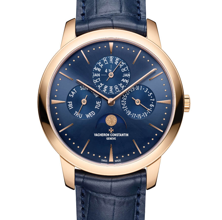 The New Vacheron Constantin Patrimony Perpetual Calendar Ultra-Thin In Rose Gold and Blue Dial