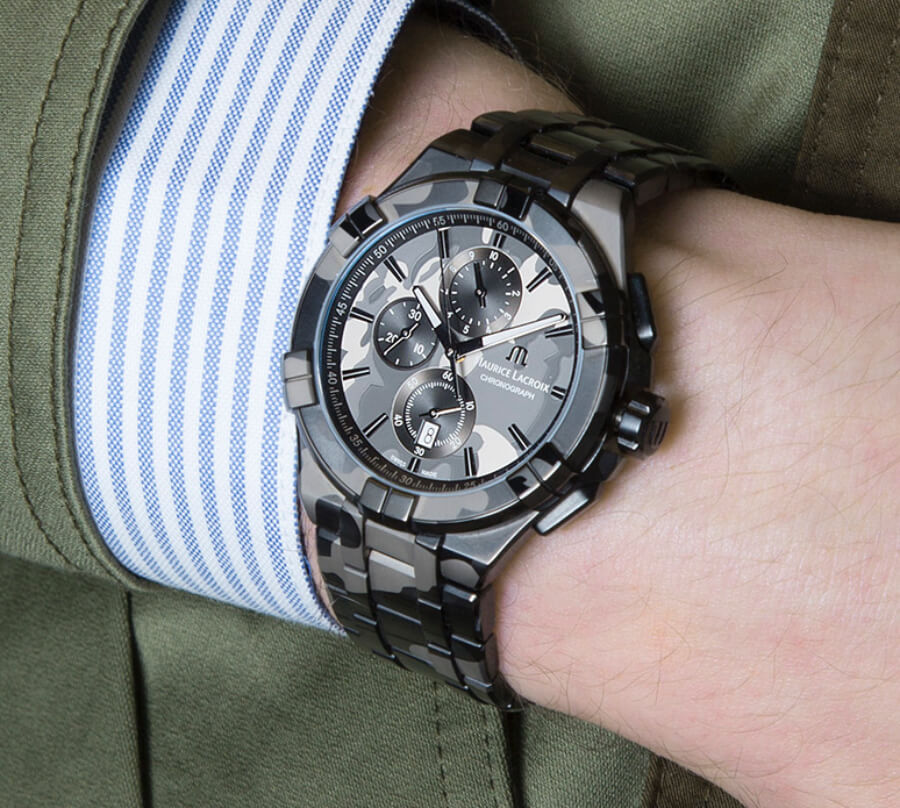 Maurice Lacroix Aikon Chrono 44 MM Camouflage Watch Review