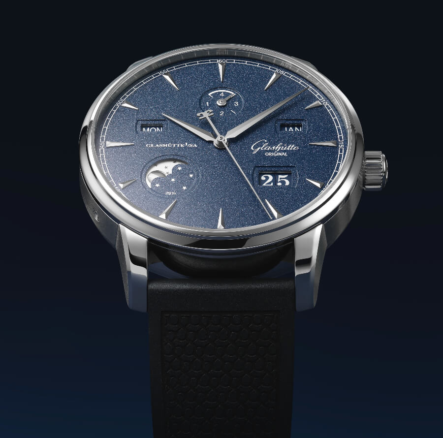 Glashutte Original Senator Excellence Perpetual Calendar Bucherer Blue Editions