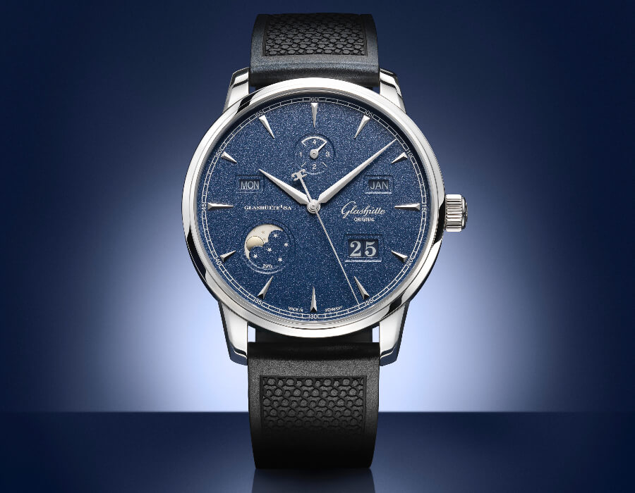 The New Glashutte Original Senator Excellence Perpetual Calendar Bucherer Blue Editions
