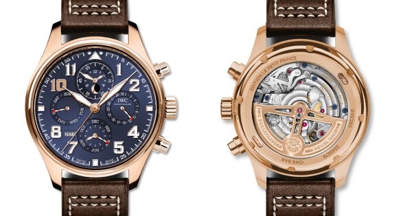 "IWC Pilot's Watch Perpetual Calendar Chronograph Edition ""Le Petit Prince"" Ref. IW392202 In 18-Carat 5N Gold With A Spectacular Midnight Blue Dial"