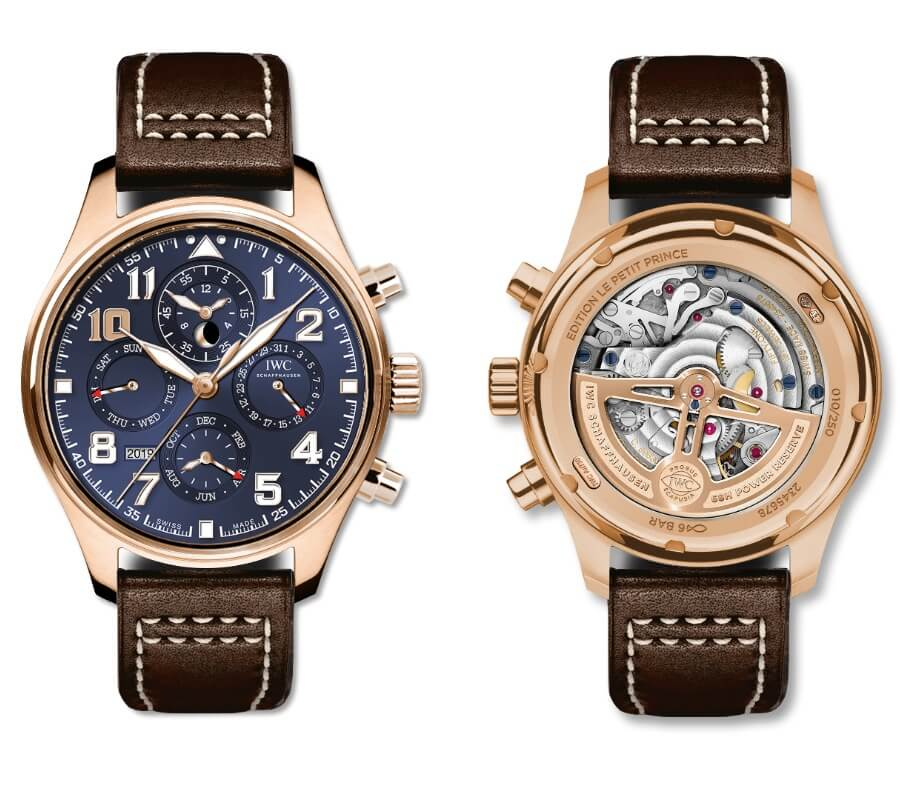 IWC Blue Dial Chronograph Complications