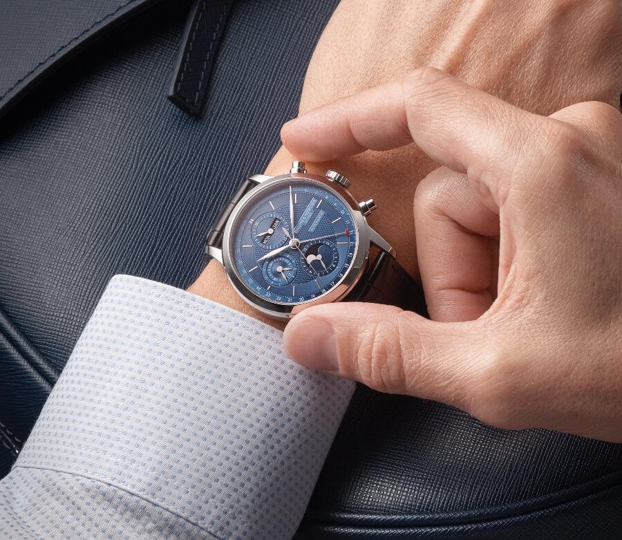 Baume & Mercier Classima Chronograph Blue Dial