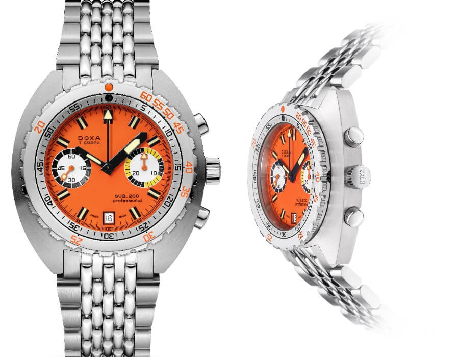 The New Doxa Sub 200 T.Graph in Stainless Steel