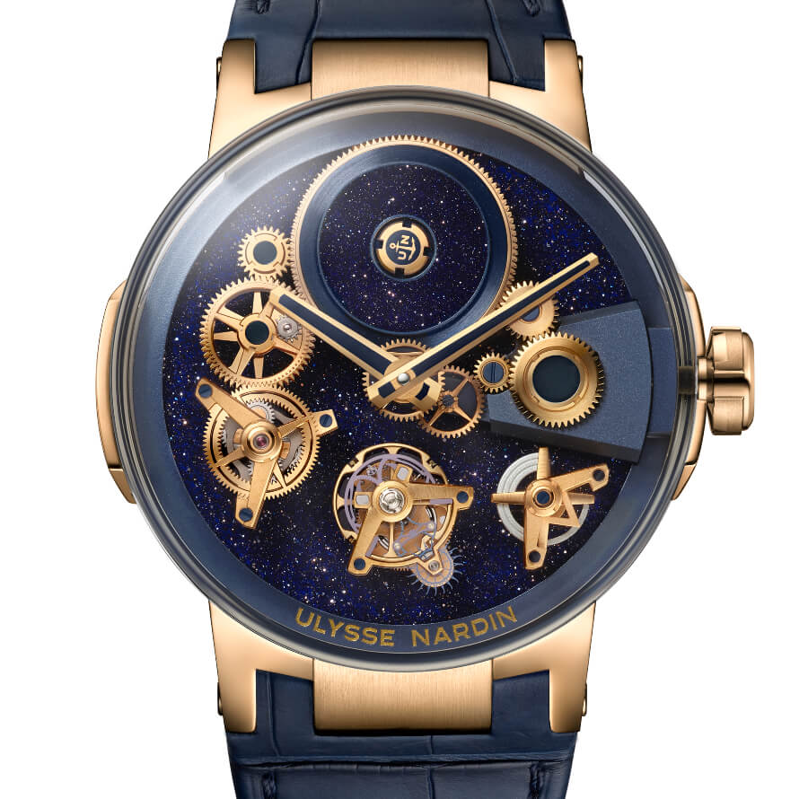 Ulysse Nardin's Executive Tourbillon Free Wheel Aventurine