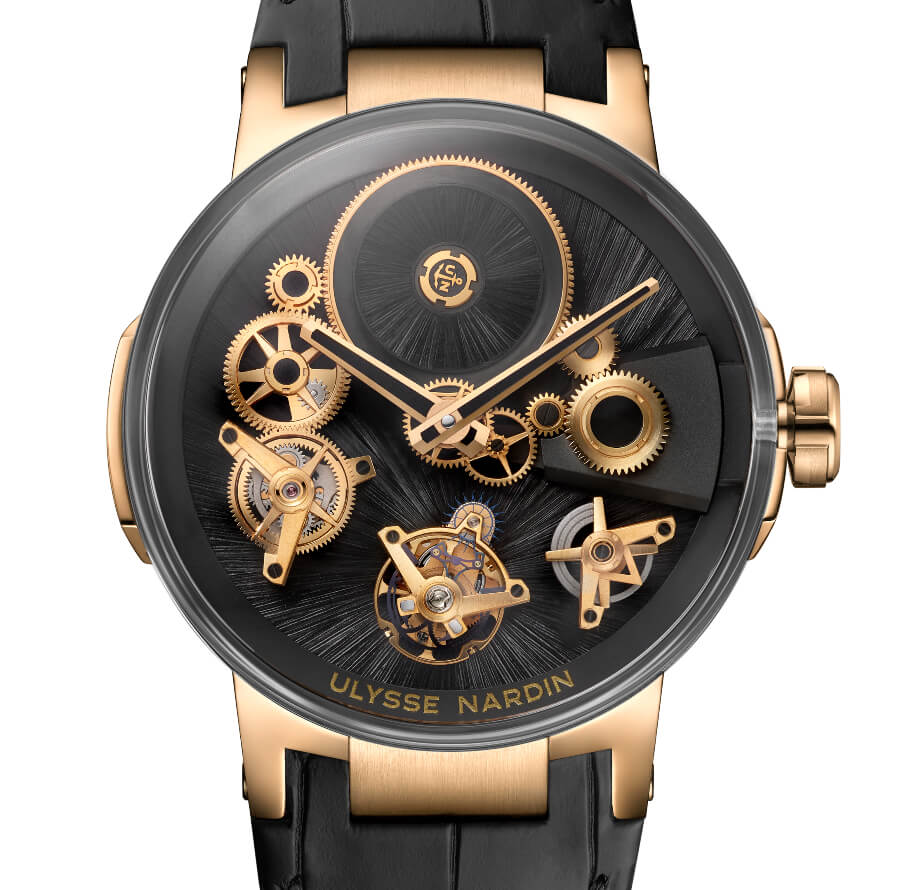 Ulysse Nardin's Executive Tourbillon Free Wheel Straw Marquetry