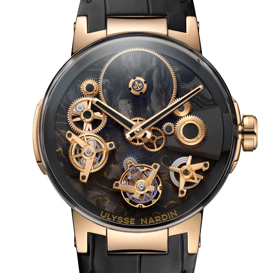 Ulysse Nardin's Executive Tourbillon Free Wheel Carbonium Gold