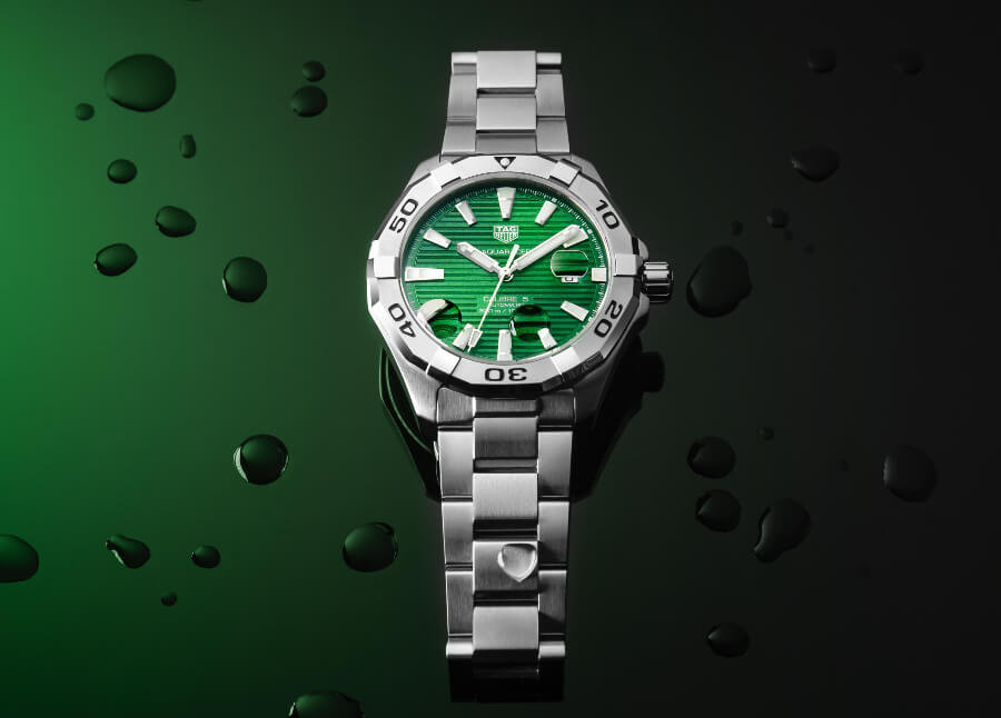 The New TAG Heuer Aquaracer Gents Green Dial