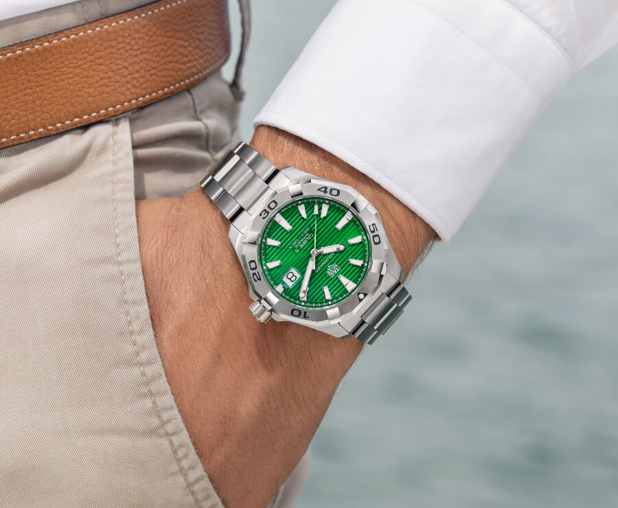 TAG Heuer Aquaracer Green Dial Watch Review