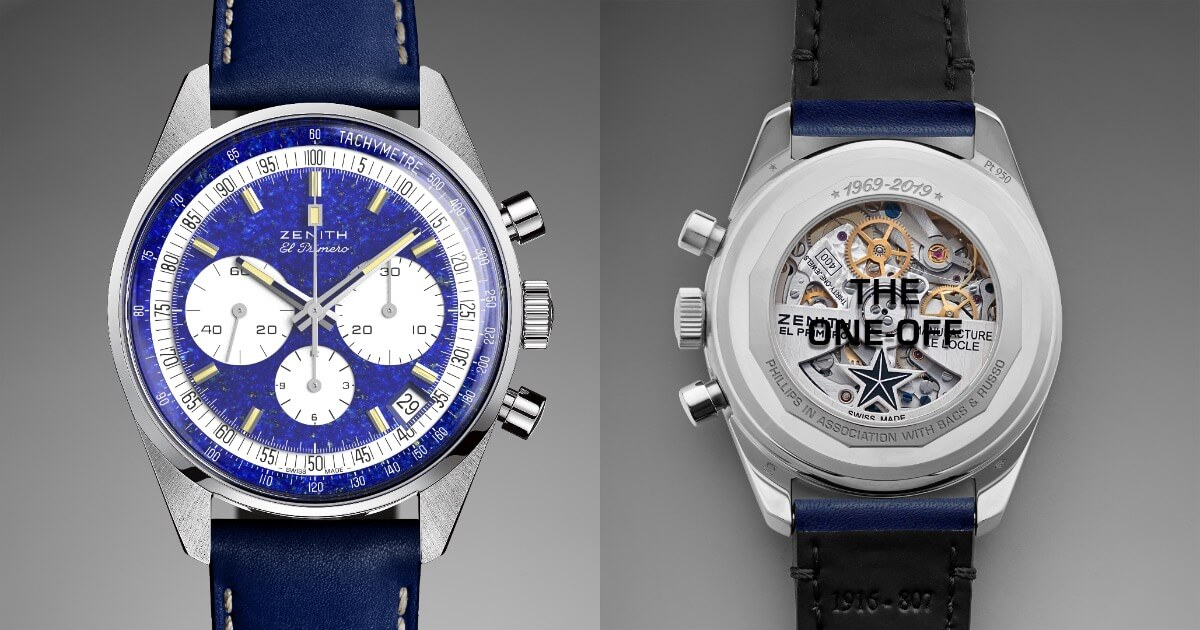 "Zenith ""One-Off"" El Primero Chronograph In Platinum A386 (Pictures & Specs)"