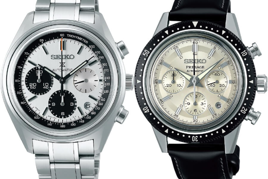 Seiko Automatic Chronograph 50th Anniversary Limited Edition: SRQ029 and Seiko Chronograph 55th Anniversary Limited Edition: SRQ031