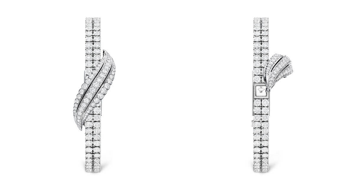 The New Jaeger-LeCoultre Joaillerie 101 Feuille Watch For Women In White Gold