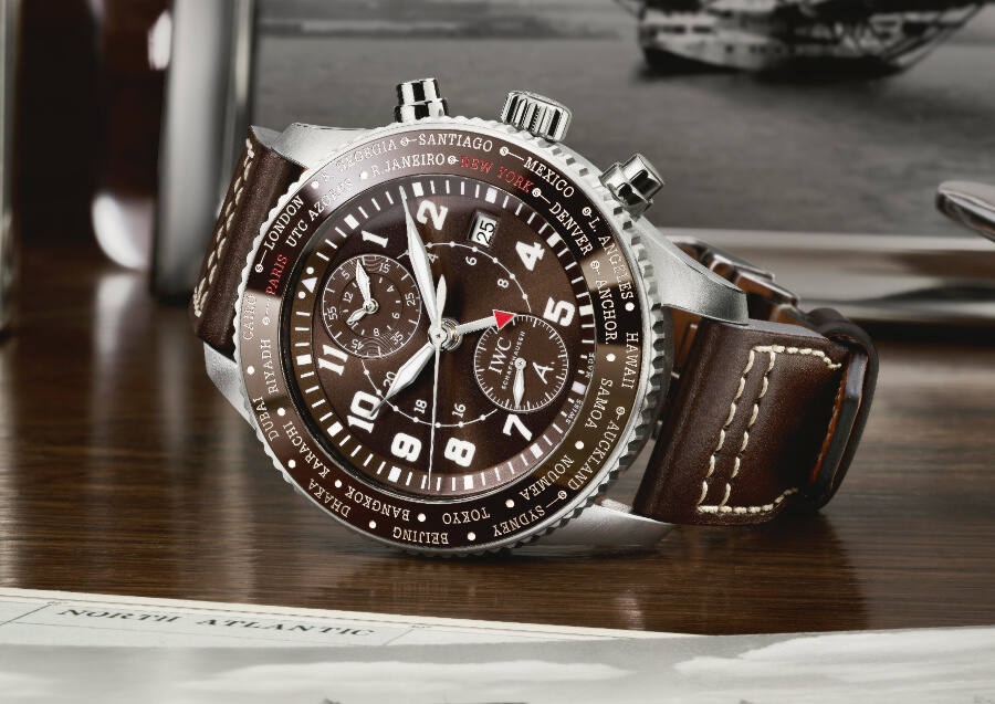 "The New IWC Pilot's Watch Timezoner Chronograph Edition ""80 Years Flight To New York""  Watch Review"