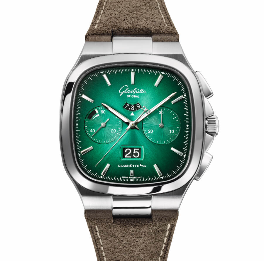 Glashütte Original Seventies Chronograph Panorama Date Green