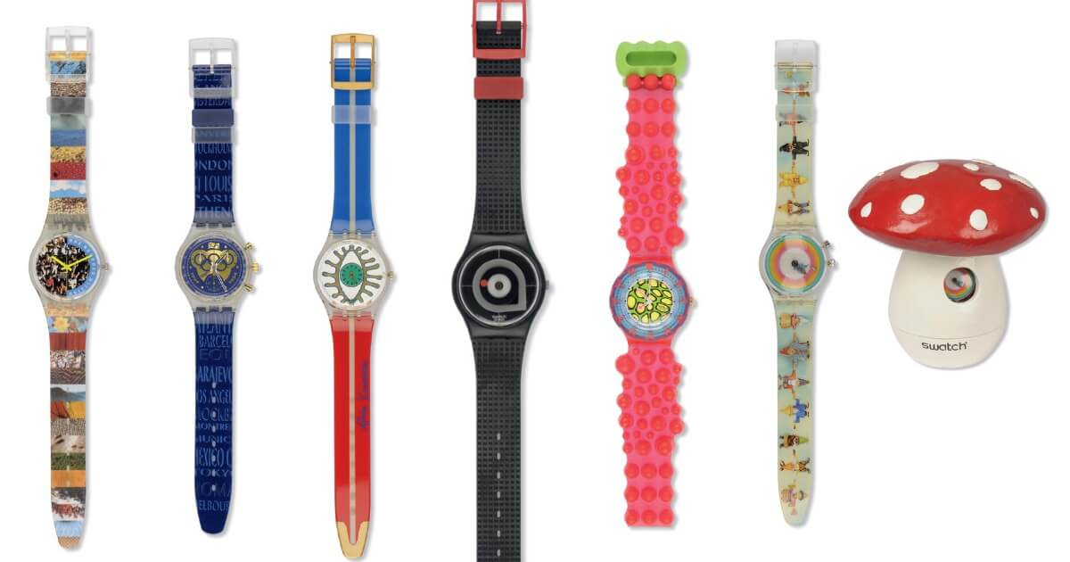 A Selling Exhibition of Over 200 Unworn Vintage Swatch Watches
