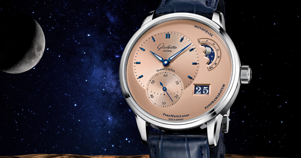 The New Glashütte Original PanoMaticLunar Rose Opaline (Price & Specifications)