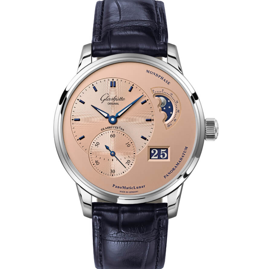Glashütte Original PanoMaticLunar Rose Opaline