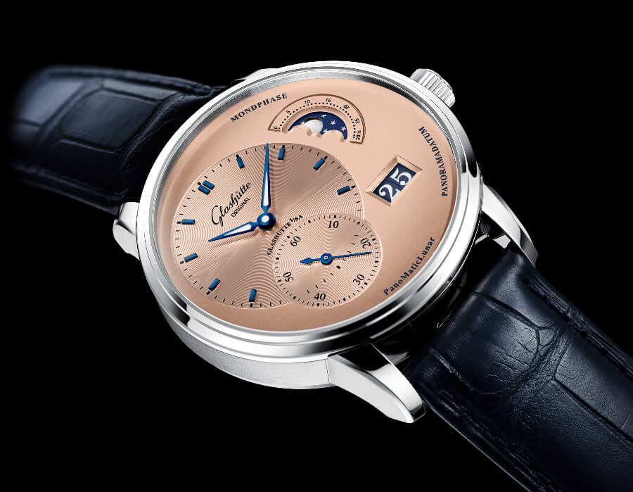The New Glashütte Original PanoMaticLunar Rose Opaline