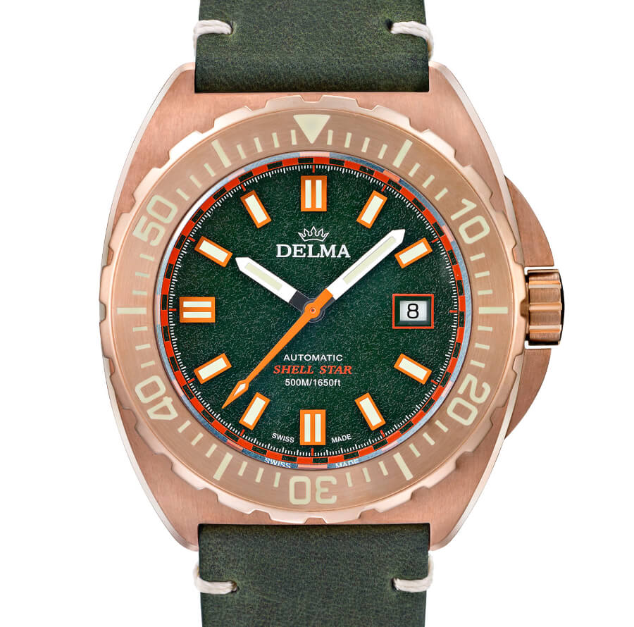 Delma Shell Star Bronze Geen Dial watch