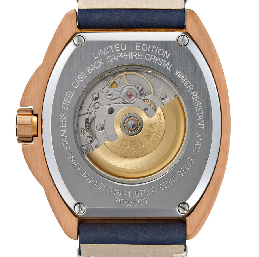 Delma Shell Star Bronze Movement