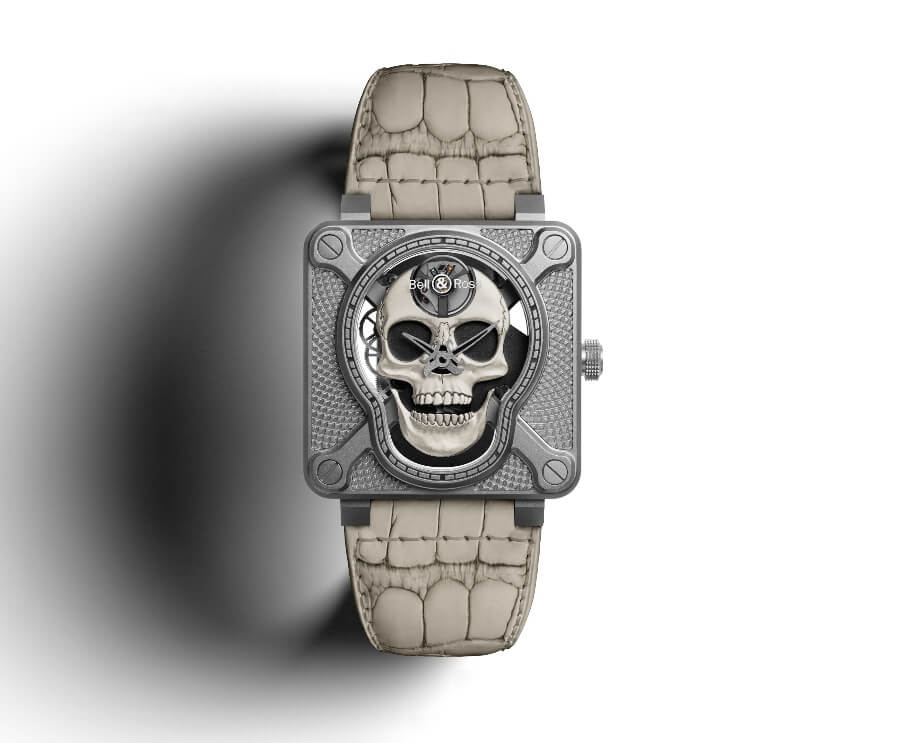 Bell & Ross BR01 Laughing Skull White