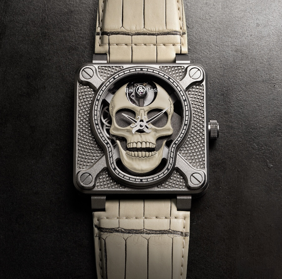 Bell & Ross BR01 Laughing Skull White Watch Review