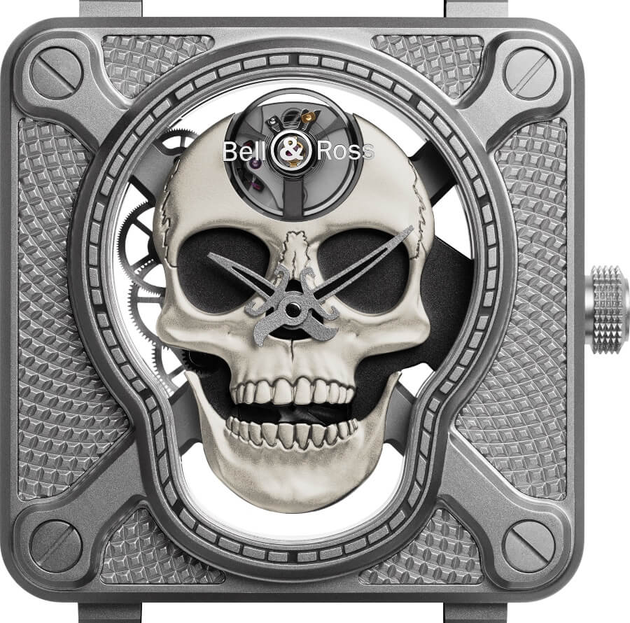 The New Bell & Ross BR01 Laughing Skull White
