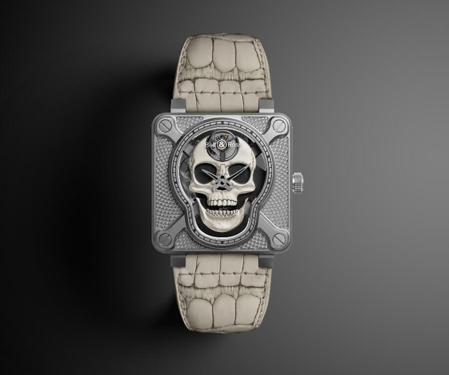 2019 Bell & Ross BR01 Laughing Skull White