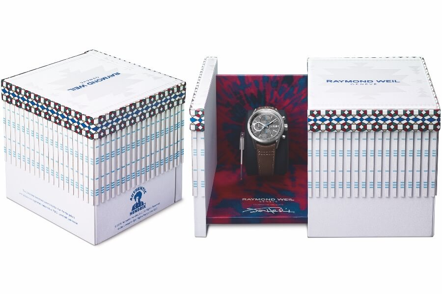 Raymond Weil Freelancer Jimi Hendrix Limited Edition Box and papers