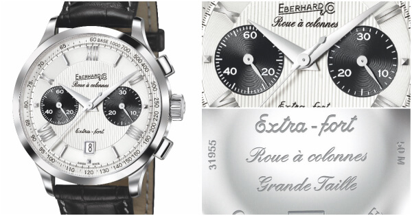 Eberhard & Co. Extra-fort Grande Taille Roue à Colonnes