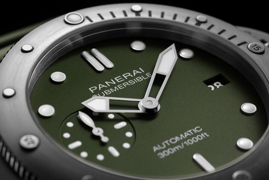 Panerai Submersible Verde Militare Geen Dial