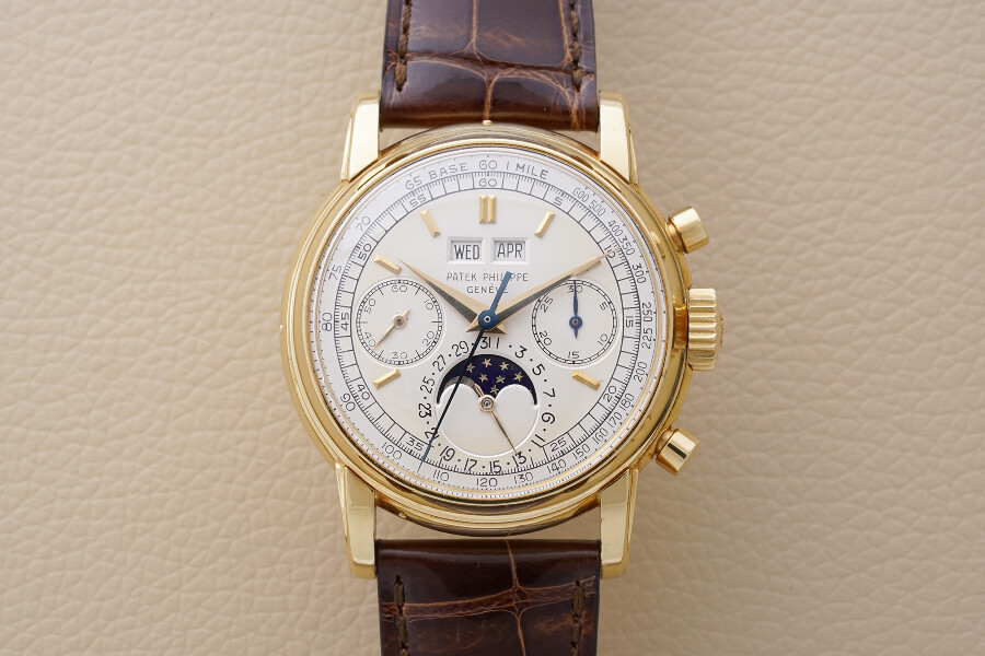 Patek Philippe perpetual calendar chronograph Reference 2499 in yellow gold