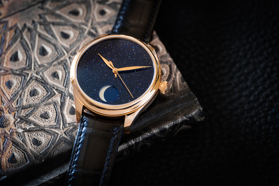 The New H. Moser & Cie. Endeavour Perpetual Moon Concept Aventurine