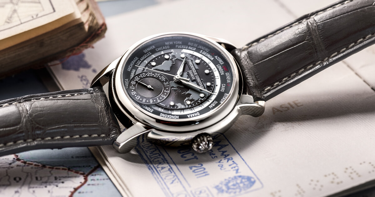Frederique Constant Classic Worldtimer Manufacture Dark Grey Dial (Specifications and Price)