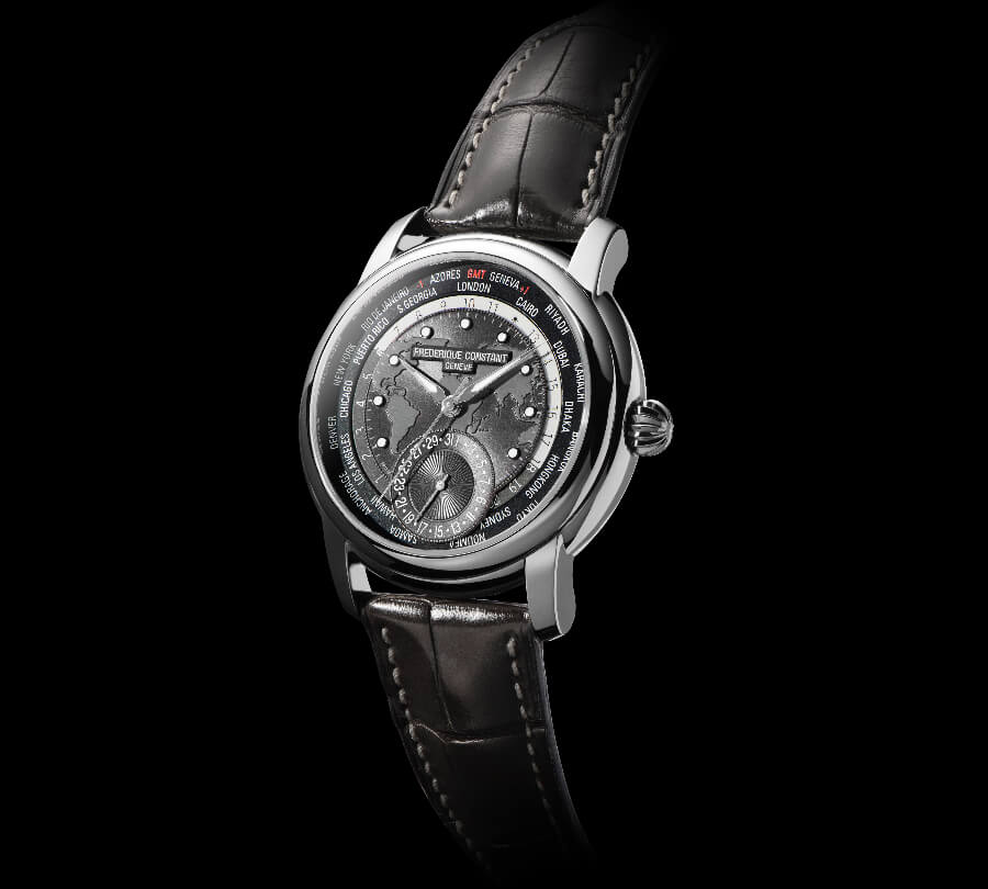 Frederique Constant Classic Worldtimer Manufacture Dark Grey Dial