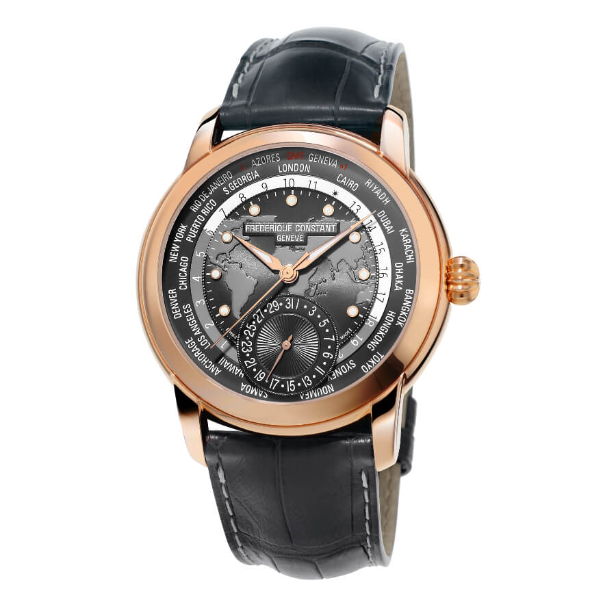 The New Frederique Constant Classic Worldtimer Manufacture Dark Grey Dial