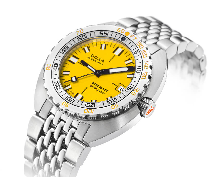 The New Doxa SUB 300T Conquistador Divingstar Yellow Dial