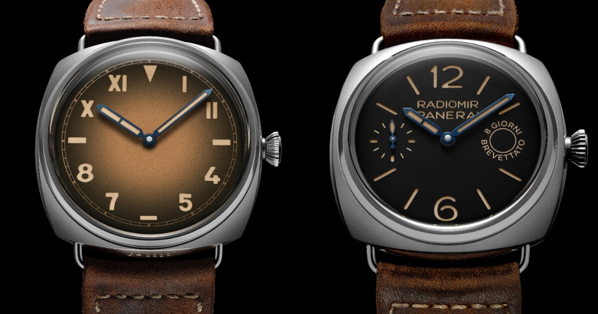 Panerai Radiomir California 47 mm (PAM00931) and Panerai Radiomir 8 Days 45 mm (PAM00992)