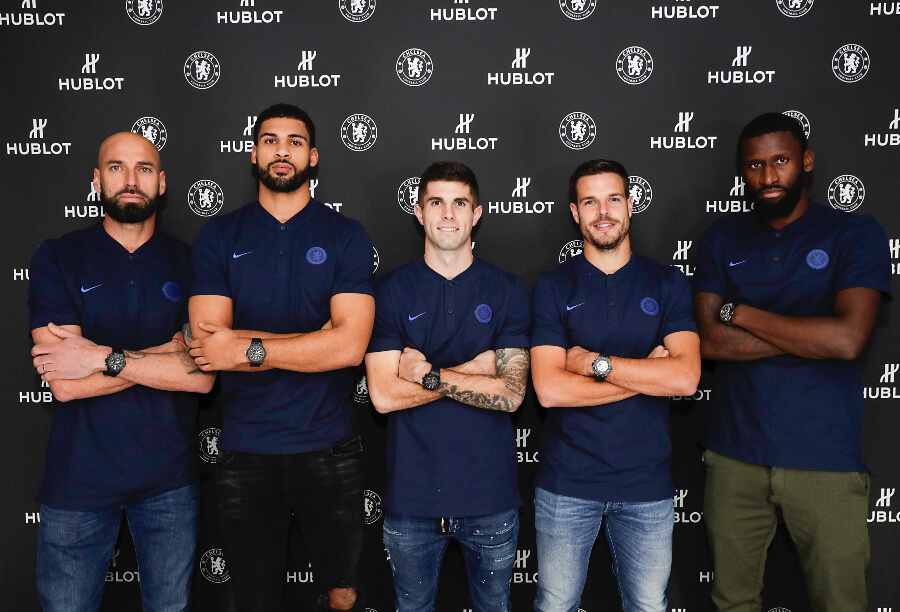 Cesar Azpilicueta, Willy Caballero, Ruben Loftus Cheek, Christian Pulisic, and Antonio Rudiger Hublot Watches