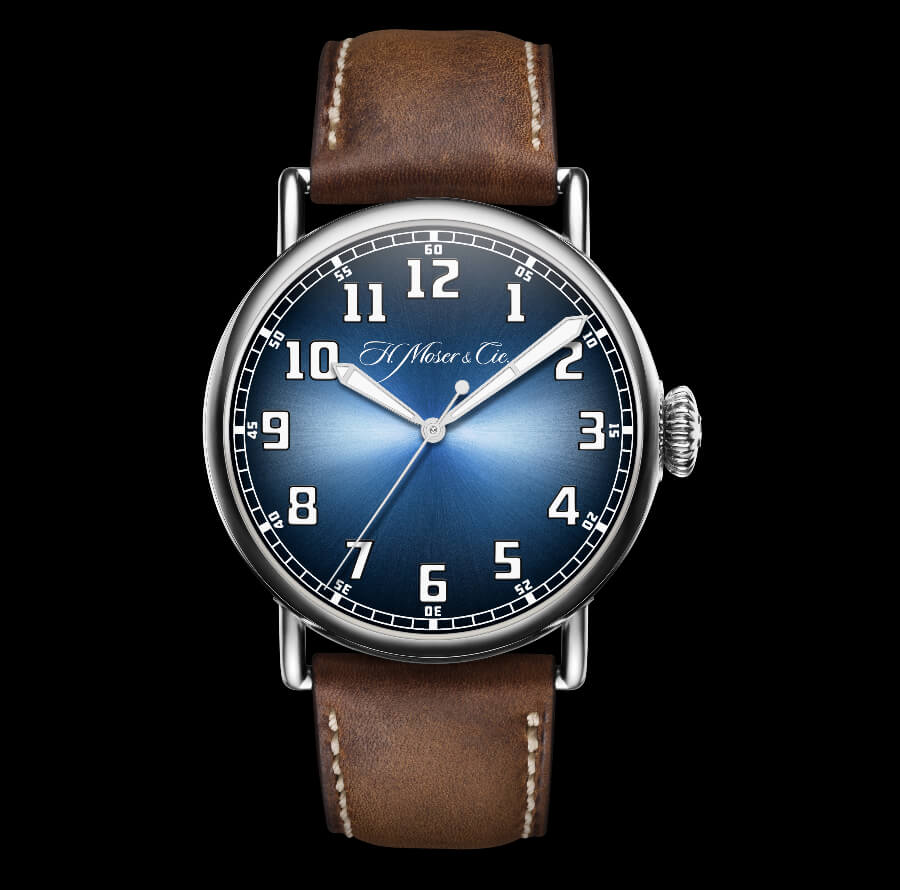 The New H. Moser & Cie. Heritage Centre Seconds Funky Blue