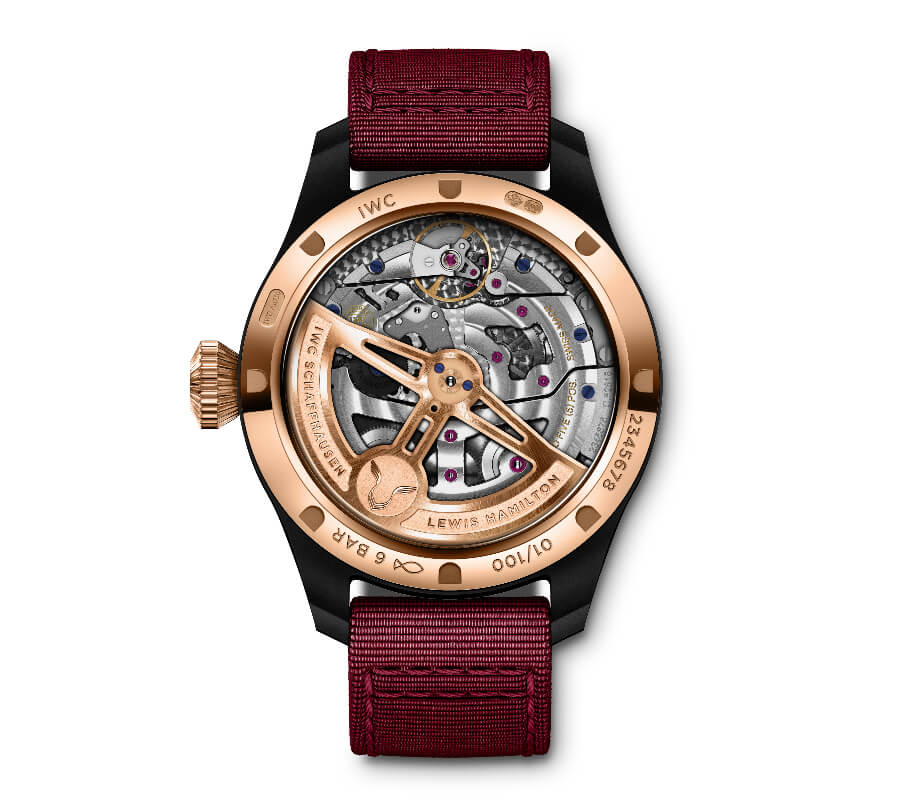 "IWC ""Lewis Hamilton"" Big Pilot's Watch Perpetual Calendar Edition Movement"
