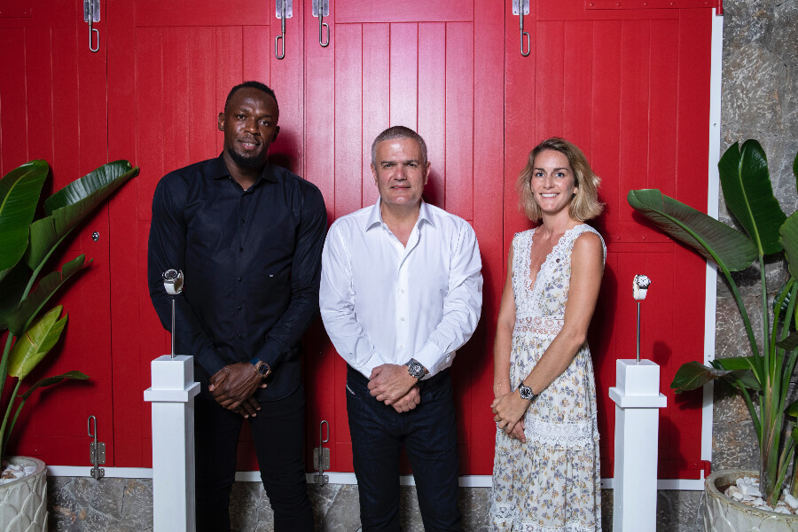 Usain Bolt, Ricardo Guadalupe, Pauline Moriceau Hublot