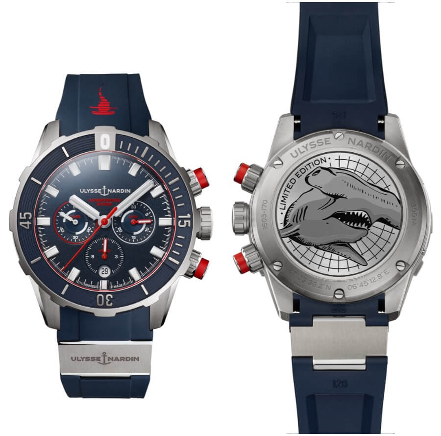 Ulysse Nardin Diver Chronograph 44mm Hammerhead Shark Limited Edition