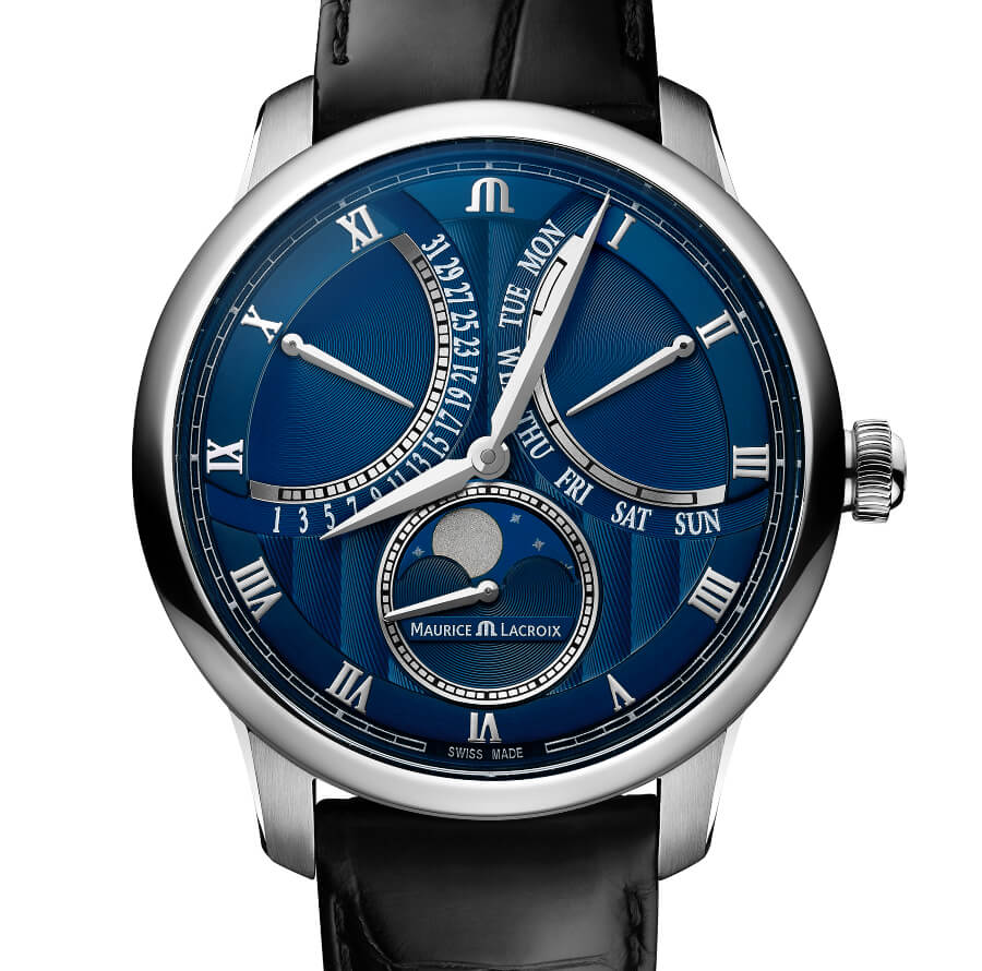 Men Watch Maurice Lacroix Moonphase Retrograde