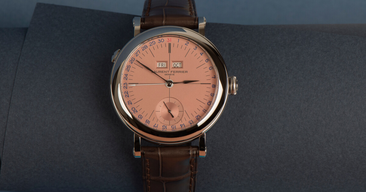 """Laurent Ferrier Galet Annual Calendar School Piece """"Geneva Edition"""" (Price, Pictures and Specifications)"""