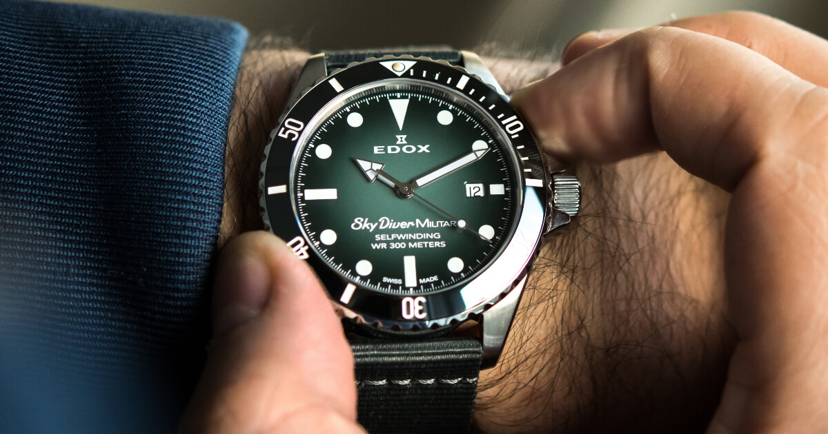 The New Edox SkyDiver Military Limited Edition With Green Dial (Price, Pictures and Specification)
