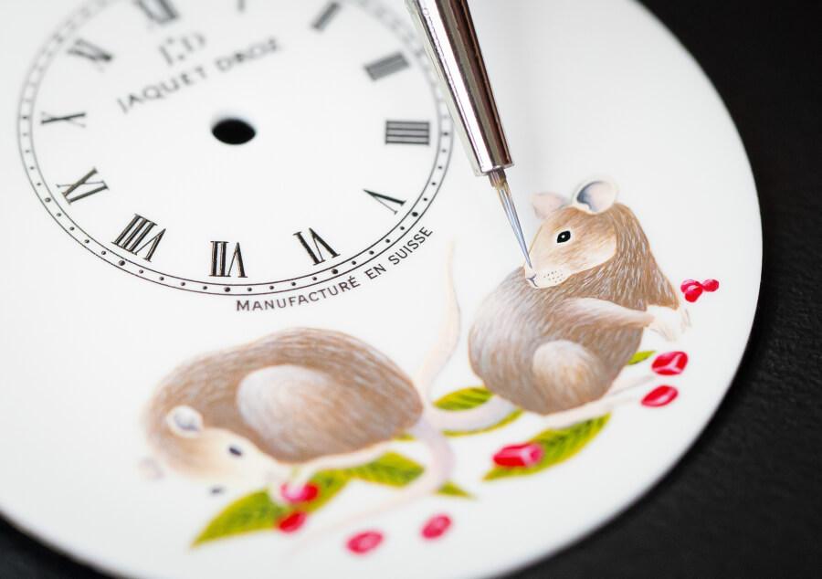 Jaquet Droz Petite Heure Minute Rat Dial