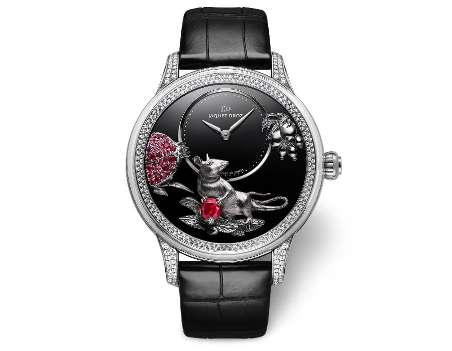 Jaquet Droz Petite Heure Minute Relief Rat Men Watch
