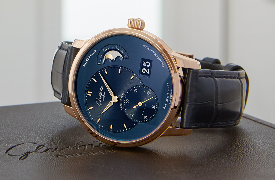 Glashütte Original PanoMaticLunar Red Gold Case Watch Review