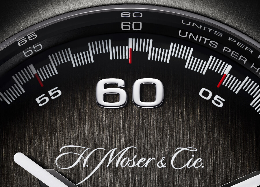 H. Moser & Cie. Streamliner Flyback Chronograph Automatic Dial